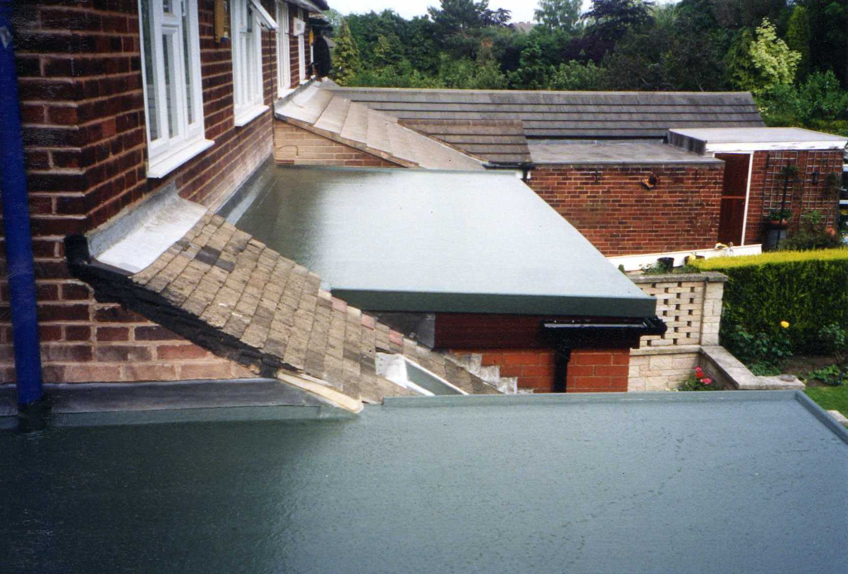 Fibreglass flat roof in sheffield