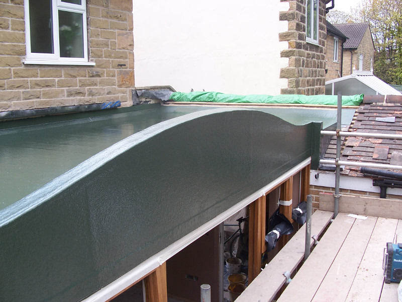 Curved Roof fibreglass