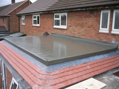 Fibreglass flat roofing in Sheffield by Wragg Roofing
