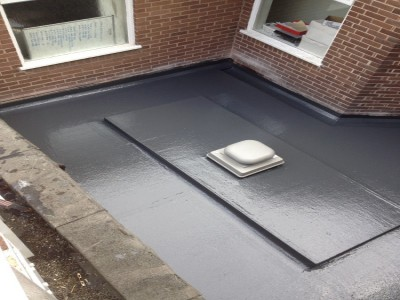 Enclosed internal flat roof area.